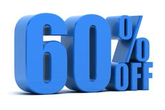 60 percent off. Discount 60 percent off promotion Stock Photos