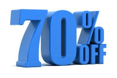 70 percent off. Discount 70 percent off promotion Royalty Free Stock Photo