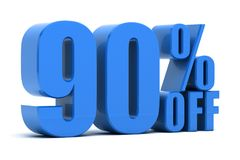 90 percent off. Discount 90 percent off promotion Royalty Free Stock Images