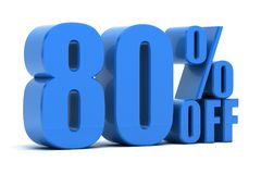 80 percent off. Discount 80 percent off promotion Stock Illustration