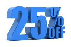 25 percent off. Discount 25 percent off promotion Stock Images