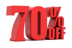 70 percent off promotion. Discount 70 percent off promotion Royalty Free Stock Image
