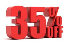 35 percent off promotion Royalty Free Stock Image