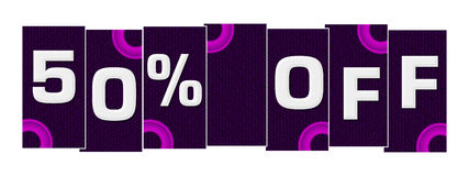 Discount 50 Percent Off Purple Pink Rings Royalty Free Stock Photo
