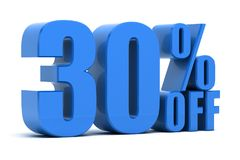 30 percent off. Discount 30 percent off sale Stock Photos