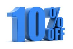 10 percent off. Discount 10 percent off sale Stock Photo