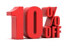 10 percent off promotion. Discount 10 percent off sale Royalty Free Stock Images