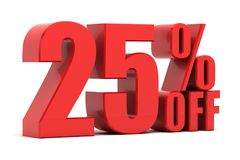 25 percent off promotion. Discount 25 percent off sale Stock Photos