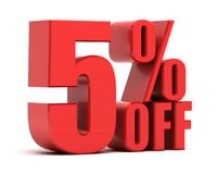 5 percent off promotion Royalty Free Stock Photo