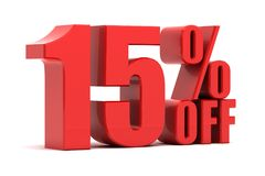 15 percent off promotion Royalty Free Stock Photography