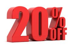 20 percent off promotion. Discount 20 percent off sale Stock Photos