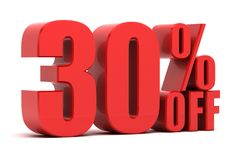 30 percent off promotion. Discount 30 percent off sale stock illustration