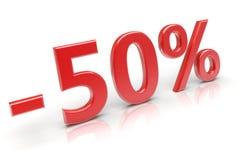 50% discount. 50 percent sale discount. 3d image Stock Images
