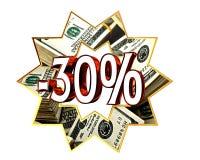 Discount 30 percent sign Stock Photo