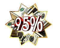 Discount 95 percent sign royalty free illustration