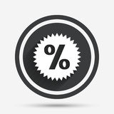 Discount percent sign icon. Star symbol. Royalty Free Stock Photos