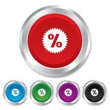 Discount percent sign icon. Star symbol. Royalty Free Stock Photo