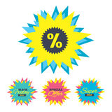 Discount percent sign icon. Star symbol. Royalty Free Stock Images