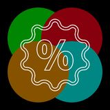 Discount percent sign, vector sale percentage royalty free illustration