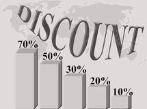 Discount percentage Stock Images