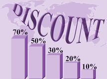 Discount percentage Stock Image