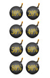 Discount percentage bomb Royalty Free Stock Images
