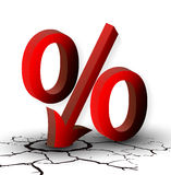 The discount percentage or low prices Stock Photography