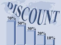 Discount percentages Stock Image