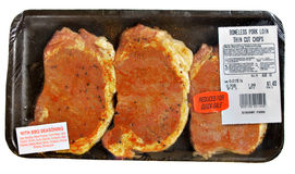 Discount Pork Chops stock images