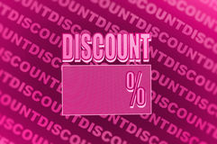 Discount poster Royalty Free Stock Photo