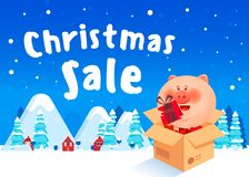 Discount poster Winter sale royalty free illustration