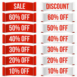Discount price labels Stock Images