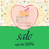 Discount price tag sale card Stock Photo