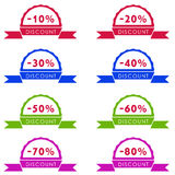 Discount price tag set Royalty Free Stock Photos