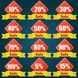 Discount price tag set. Vector Illustration Royalty Free Stock Photo