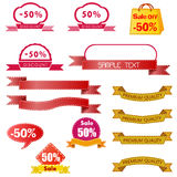 Discount price tag set Stock Photography