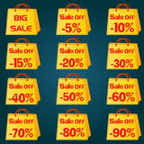 Discount price tag set. Vector Illustration Royalty Free Stock Image