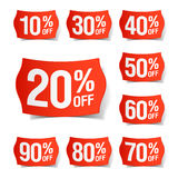 Discount price tags. Vector illustration of discount price tags Stock Image