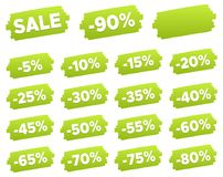 Discount Price Tags - Discount Label Set. Stock Photos