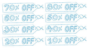 Discount price tags Royalty Free Stock Image