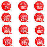 Discount price tags. % off tag isolated on white illustration of discount price tags Royalty Free Stock Photography