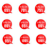 Discount price tags. % off tag isolated on white illustration of discount price tags Stock Images