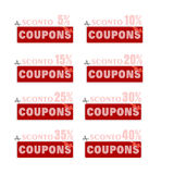 Discount price tags. % off tag isolated on white illustration of discount price tags Stock Photography