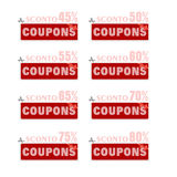 Discount price tags. % off tag isolated on white illustration of discount price tags Royalty Free Stock Photos