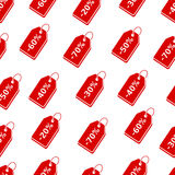 Discount price tags seamless pattern Royalty Free Stock Photography