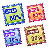 Discount price tags Royalty Free Stock Images