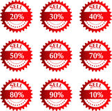 Discount price tags. Vector. Stock Photo