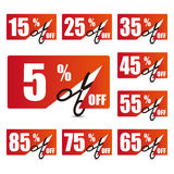 Discount price tags 2 Stock Photography