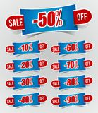 Discount prices Stickers Royalty Free Stock Photography
