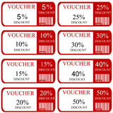 Discount promotion coupons Stock Images